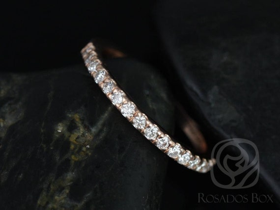 Rosados Box 14kt Matching Band to Colbie Medium Diamond HALFWAY Eternity Band