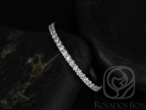 Rosados Box Platinum Matching Band to Tabitha/Lisette/Carrie/Kubian 8mm Diamonds HALFWAY Eternity Band