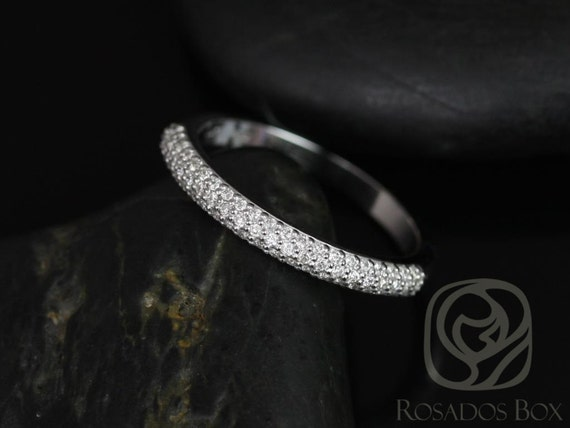 Rosados Box 14kt Matching Band to Tasha 7.5mm Micro Pave Diamonds HALFWAY Eternity Band