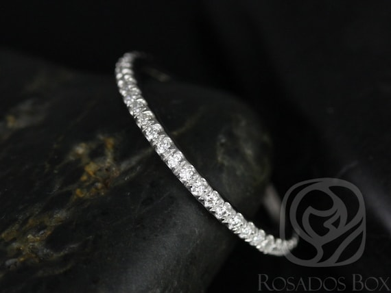 Thin Diamond Micropave Matching Band to Kimberly/Catalina ALMOST Eternity Ring,Platinum,Rosados Box