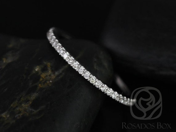 Rosados Box 14kt White Gold Matching Band to Brianna Diamonds ALMOST Eternity Band