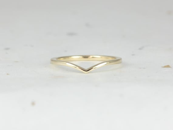 Rosados Box Marley 14kt Yellow Gold Plain Chevron Ring (S.L.A.Y. Collection)