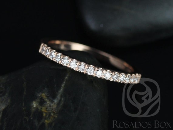Rosados Box 14kt Matching Band to 9mm or 10mm  Barra/Samina Medium Diamond HALFWAY Eternity Band