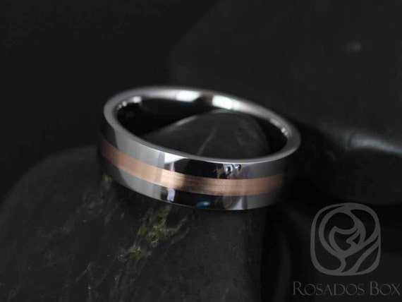 Rosados Box Austin Straight Pipe W/ 2mm Striped Rose Gold High Finish Band