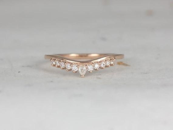 Rosados Box Marie 14kt Rose Gold Diamonds Tiara Crown Nesting Ring