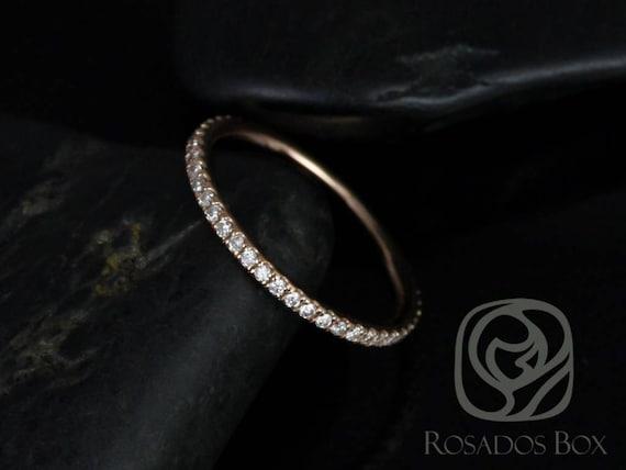 Rosados Box Phyllis Super Thin 14kt Rose Gold Diamond FULL Eternity Band