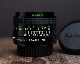 Kalimar 28mm f/2.8 MACRO Konica Mount Cleaned and Tested