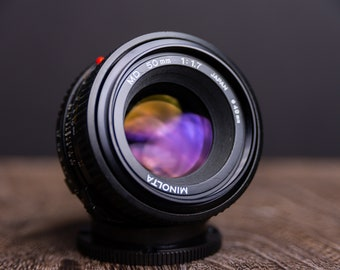 Minolta 50mm 1.7 MD mount Cleaned & Tested