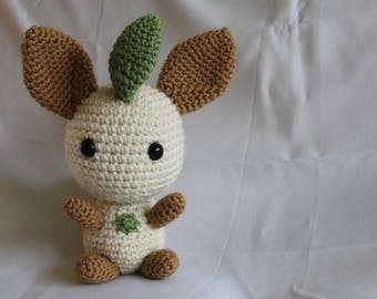 Crochet Chibi Leafeon Pokemon Plushie Eevee