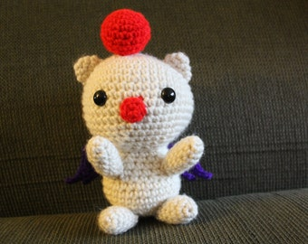 Crochet Chibi Moogle Plushie Final Fantasy Kingdom Hearts