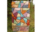 Kwik Krazy Stained Glass Quilt, Scrapbuster Quilting Pattern, from Two Kwik Quilters