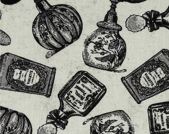 Perfume Bottles, Parfum Bottles, French Perfume, 100% Cotton, By the Half Yard