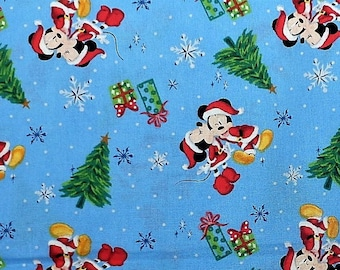 mickey mouse minnie mouse disney christmas fabric christmas love 100 cotton fabric 44 wide by the half yard - Disney Christmas Fabric