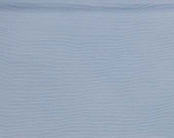 """Sheer Textured Blue Polyester Fabric - 45"""" wide x 2 yards +, Sheer Blue Fabric"""