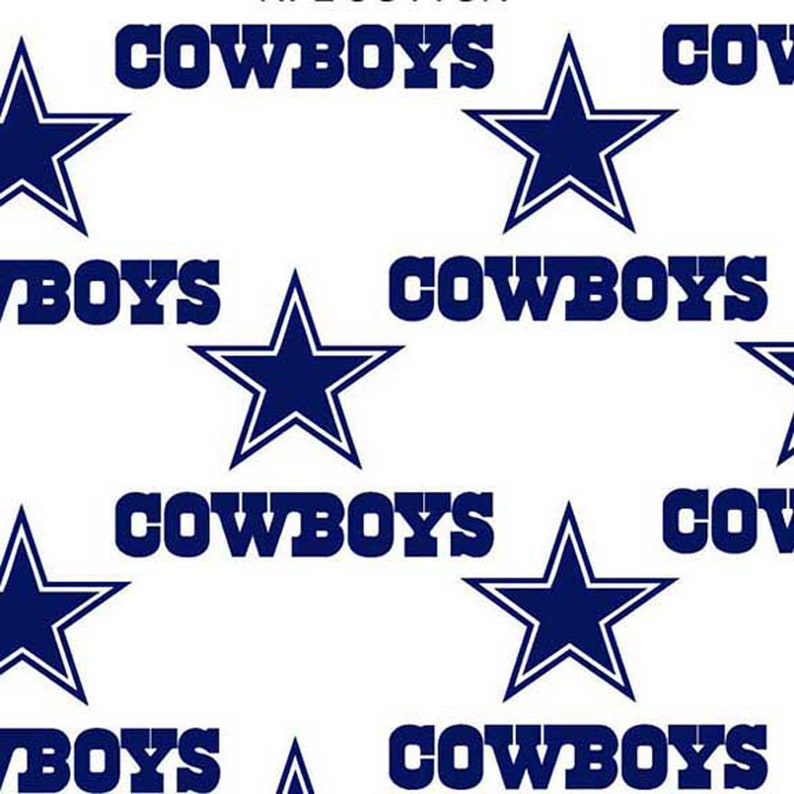 Dallas Cowboys White w Blue Stars NFL Football Cotton  6914d975d