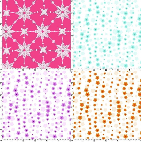 """17 2.5/"""" Quilting Fabric Jelly Roll Strips Retro Flower Power 3 !!!"""