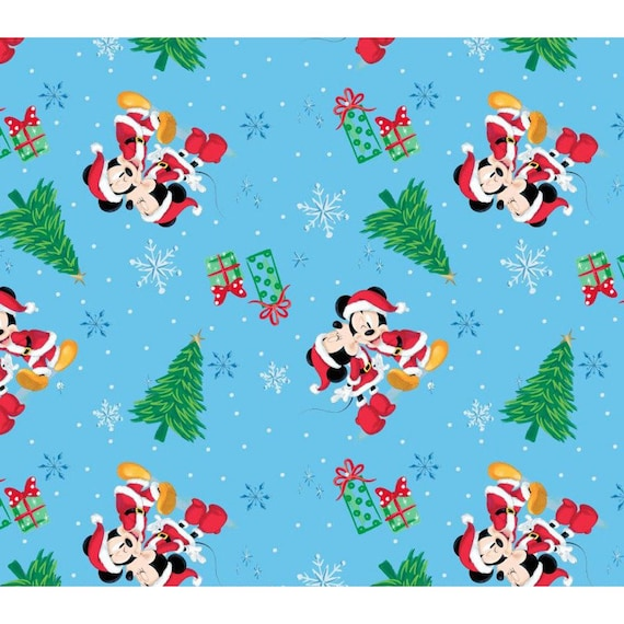 Disney Christmas Fabric By The Yard.Mickey Mouse Minnie Mouse Disney Christmas Fabric Christmas Love 44 Wide By The Half Yard