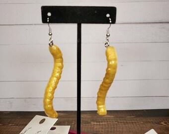 Gummy Worm Resin Earrings