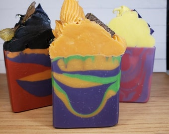 Sanderson Sisters Inspired Soaps, Handmade Soaps with Scent Fragrance Oils