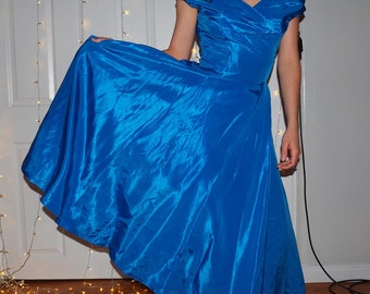 taffeta ball gown