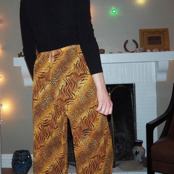 animal print mesh pants - image 7