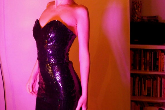 sequin sweetheart cocktail dress