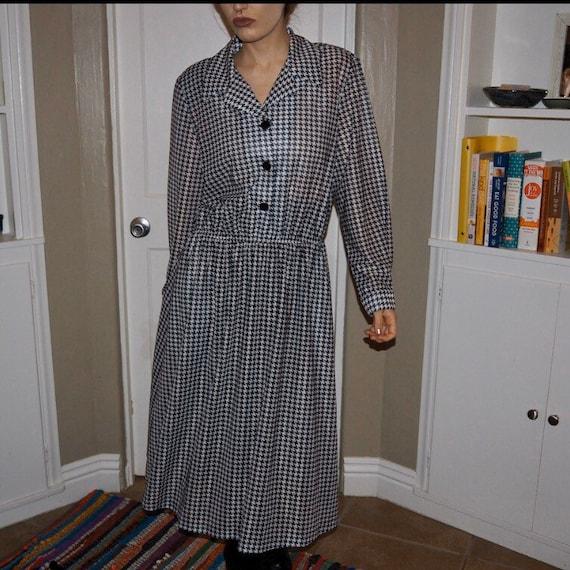 vicki wayne houndstooth shirtwaist dress - image 5