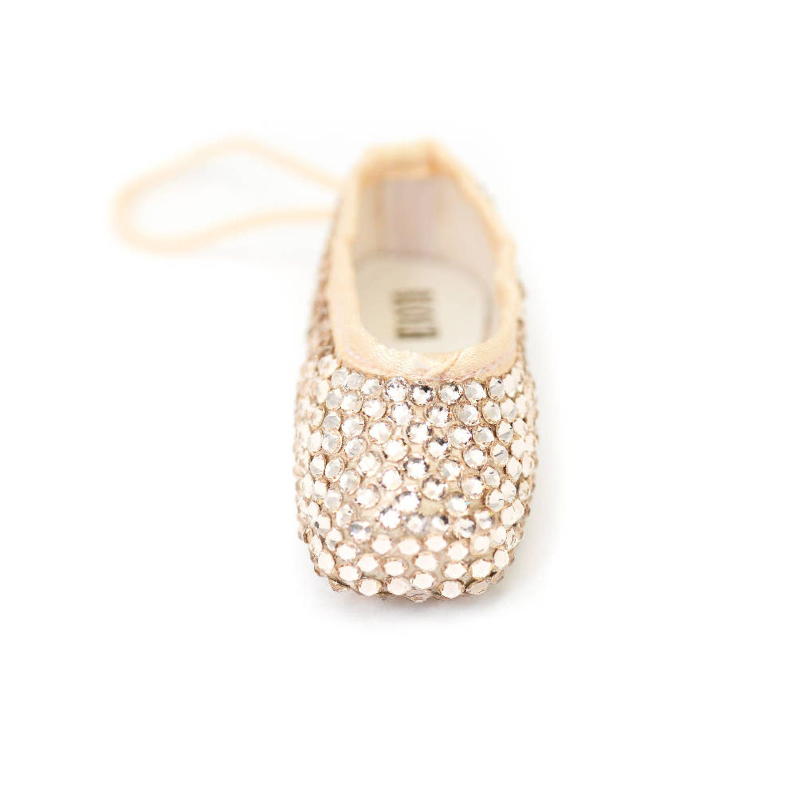 pointe shoe ornament | mini ballet shoe | crystal shoe | dance bag charm | mini pointe shoe key chain | ballerina gift | dancer