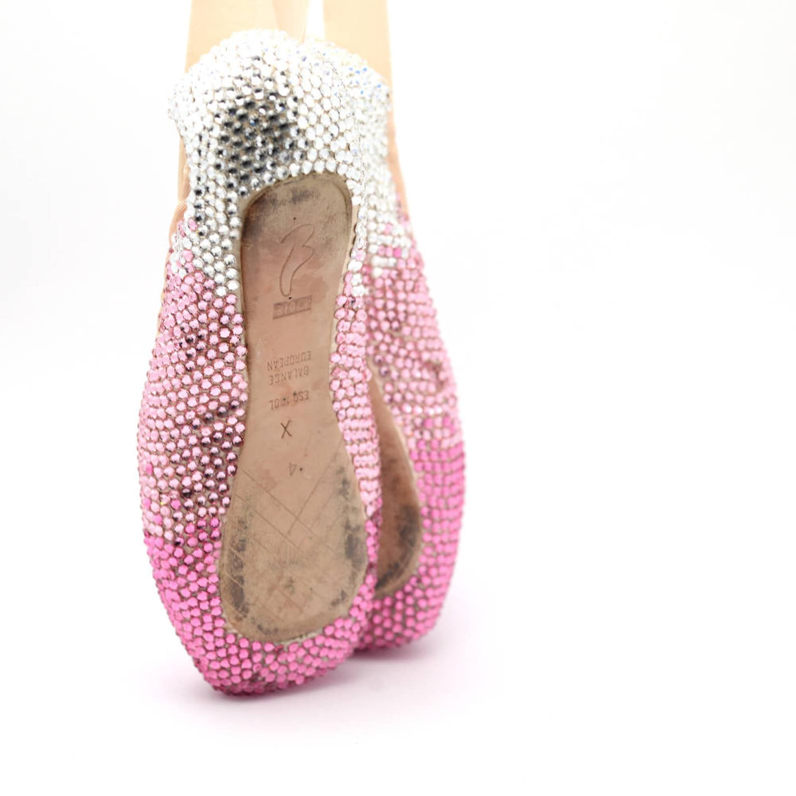 decorated pointe shoes | crystal ballet shoes | gift for dancer | 100% swarovski crystals | your pointe shoes decorated with cry