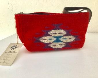Oaxaca Handwoven Clutch Wristlet Red