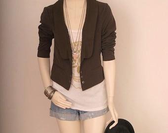Jacket Steam Punk Victorian Vintage Grey Women Size M or L Medium or Large