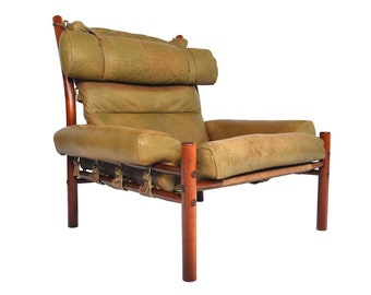 Mid Century Arne Norell Inca Highback Lounge