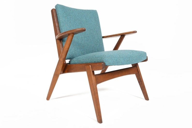 Stupendous Danish Mid Century Modern Oak Paddle Arm Lounge Chair By Arne Wahl Iversen Caraccident5 Cool Chair Designs And Ideas Caraccident5Info