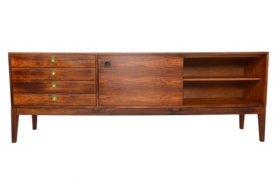 La Credenza In English : English modern mid century rosewood credenza by robert etsy