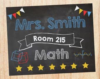 Classroom Math Sign Etsy