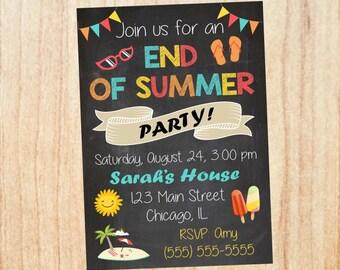 summer party invitation etsy