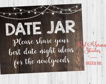Date Jar Guest Book Etsy