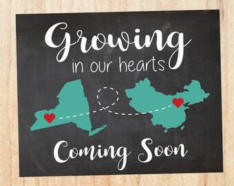 Adoption announcement asian