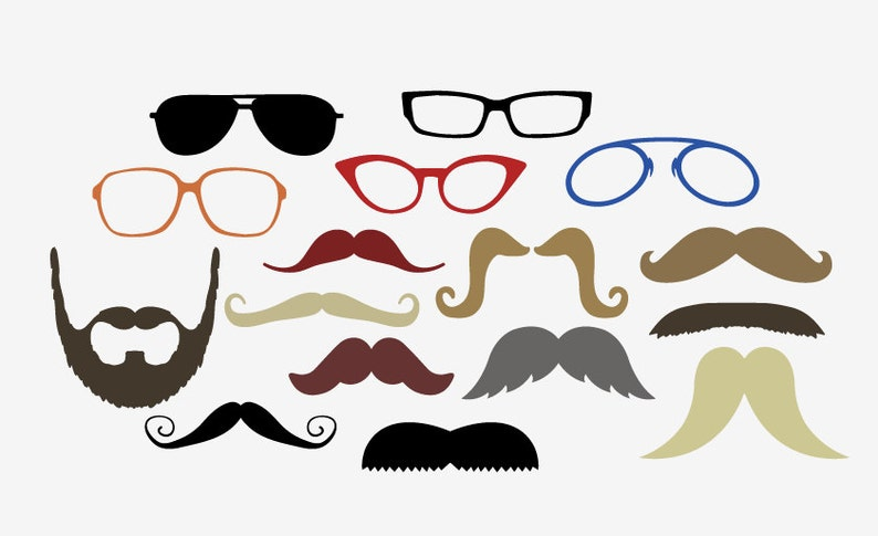 photo regarding Printable Moustaches titled Gles Mustache Do-it-yourself Image Booth Props printable wedding day or bash photobooth moustaches