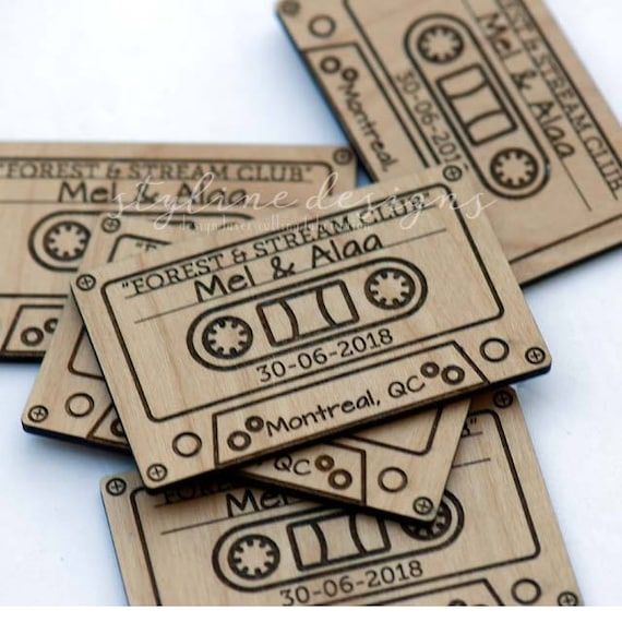 10 Cassette Tape Save The Date Magnets Wedding Favors