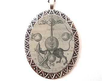 Mystical pendant etsy kabbalah pendant silver tone jewish mysticism mystical esoteric occult judaism necklace aloadofball Choice Image