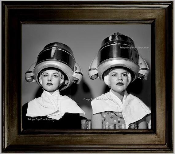 Salon De Coiffure Art Print 8 X 10 Les Femmes Retro Kitsch Etsy
