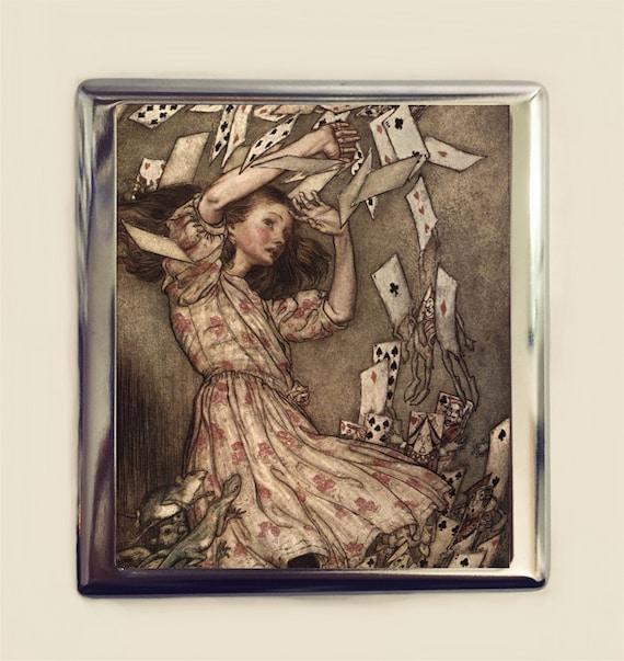 Alice In Wonderland Cigarette Case Business Card ID Holder