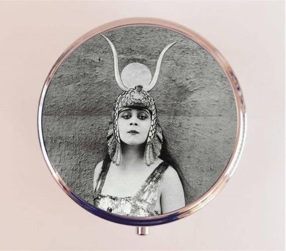 Cleopatra Theda Bara Pill Box Case Pillbox Holder Trinket