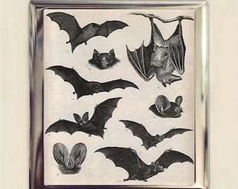 Victorian Bat Cigarette Case Business Card ID Holder Wallet Bats Goth Gothic Dark Art Vampire