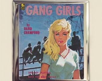 Girl Gang Cigarette Case Business Card ID Holder Wallet Pulp Retro Paperback Bad Girls