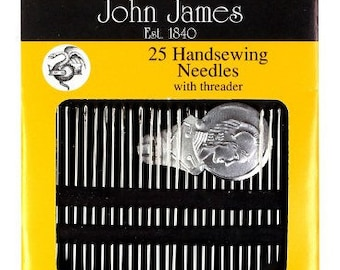 JOHN JAMES English Hand Sewing 25-Pack Assorted NEEDLES