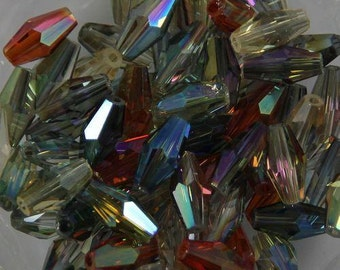 AUSTRIAN OVAL Glass CRYSTALS 8mm Beads Multi-Colors