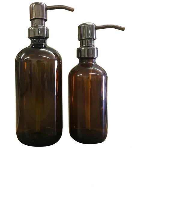 Blue Soap Dispenser 2pk Imperfect Cobalt Blue Glass16oz Bottles w Choice Pumps