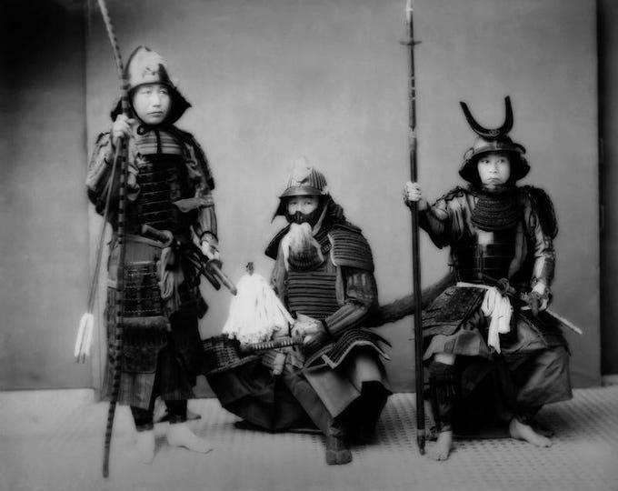 Samurai Trio Black and White